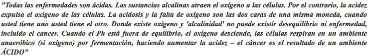 Dr Otto Warburg quote - Dieta Alcalina Pdf